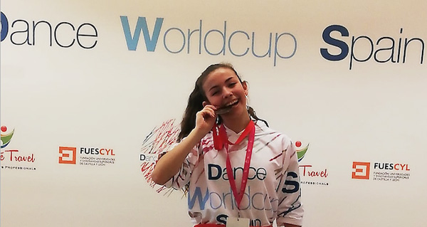 Photo of Noelia Quintela, de San Xoán de Río, bronce no Dance World Cup Spain