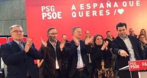 Adriana Lastra e Gonzalo Caballero arroupan aos candidatos socialistas ourensáns