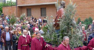 A bendición e procesión de ramos abren a Semana Santa barquense