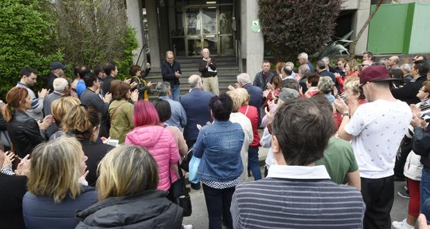 """Photo of Concentración na Rúa """"contra a deslocalización de Iberdrola"""""""