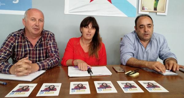 """Photo of María Albert: """"O BNG levou a iniciativa nesta campaña electoral na Rúa"""""""