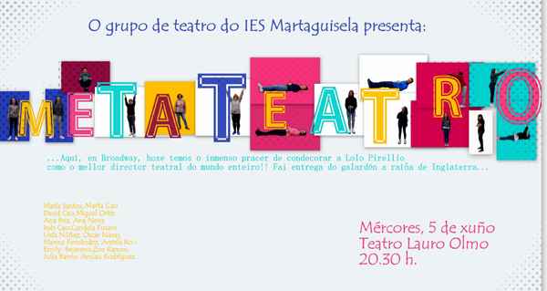 "Photo of O grupo de teatro do IES Martaguisela representará ""Metateatro"" no Barco"