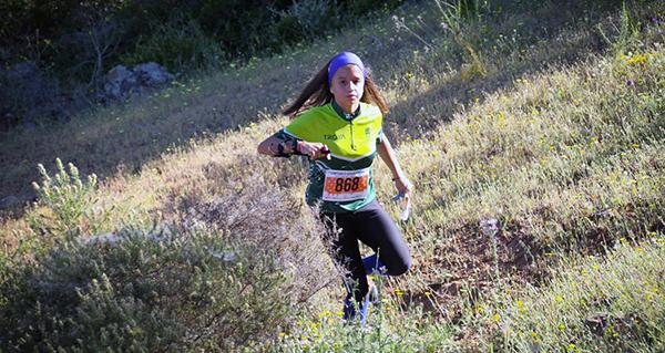 Photo of Mailén Aller (Peña Trevinca Barco), 3ª no Campionato Ibérico Feminino de Orientación en Sevilla
