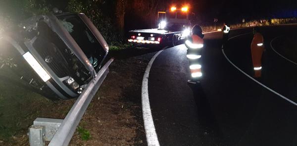 Photo of Unha persoa resulta ferida nun accidente de tráfico na OU-536 en Trives