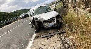 Unha persoa resulta ferida nun novo accidente de tráfico en Trives