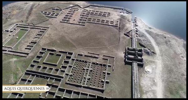 Photo of O campamento romano de Aquis Querquennis, a vista de paxaro
