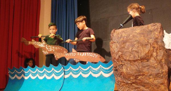 """Photo of """"O arao Arquímedes"""", reivindicación medioambiental feita teatro no CEIP Condesa Fenosa do Barco"""