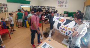 O alumnado do CEIP Condesa de Fenosa expón os proxectos desenvolvidos durante o curso