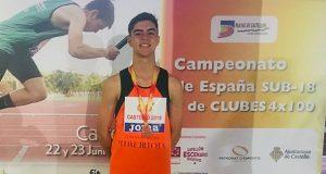 O vianés Carlos Beltrán Álvarez logra a medalla de bronce no nacional de atletismo sub18