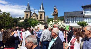 A parroquia ruesa de Fontei honra a San Antón