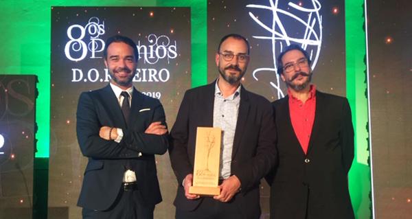 Photo of A D.O. Ribeiro entrega os seus premios, un deles recollido polo valdeorrés Manuel Cruz