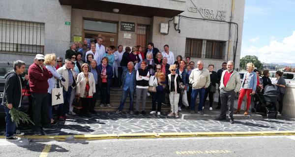 Photo of Novo parón no exterior do Centro de Saúde da Rúa