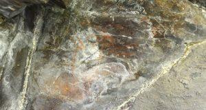 Preséntanse os primeiros resultados das pinturas rupestres de Casaio