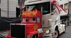 Os camións de Verín engalánanse por San Cristobo