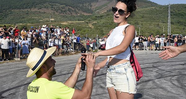 Photo of Sergio e Natalia, a parella protagonista da IV edición da KDD Racing celebrada en Petín