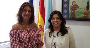 A nova alcaldesa da Pobra de Trives, Patricia Domínguez, reúnese coa delegada territorial da Xunta en Ourense