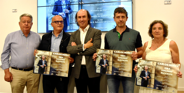 """Photo of Carlos Núñez percorrerá a provincia de Ourense coa súa xira """"Lugares máxicos"""""""