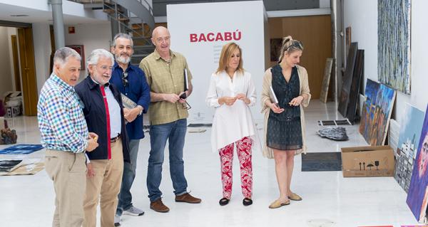 Photo of David Catá, primero premio do XV Certame de Artes Plásticas da Deputación de Ourense