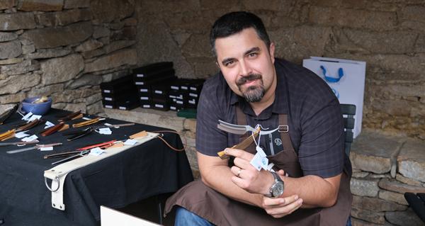 Photo of A marca valdeorresa Cuchillos A. Castro, no VIII Encontro da Artesanía Tradicional e Popular de Galicia