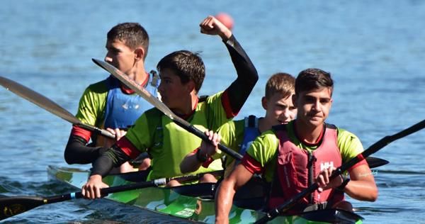 Photo of O barquense Raúl Prada, campión de España infantil A en K4