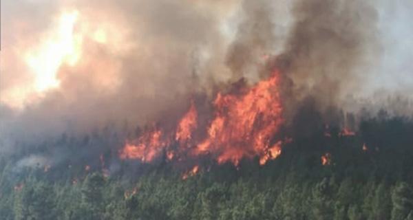 Photo of As chamas do incendio de Montefurado chegan á aldea de Ermidón