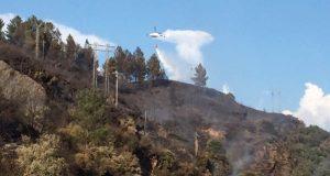 Incendio forestal nas proximidades do túnel de Montefurado