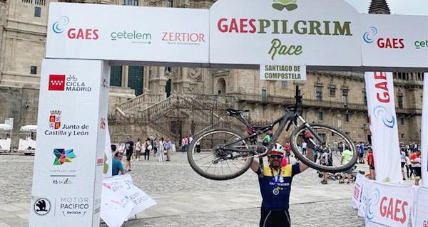 Photo of Diego Seco, terceiro en Máster 50 na Pilgrim Race