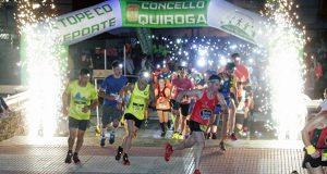 A carreira nocturna de Quiroga reuníu a uns 300 participantes