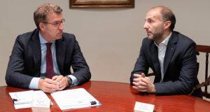 O alcalde de Ourense reúnese por primeira vez co presidente da Xunta de Galicia