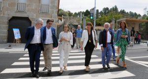 A conselleira de Infraestruturas e Mobilidade visita Seixalbo, con motivo do remate 1ª fase das obras de renovación