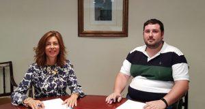 O alcalde de San Xoán de Río, Xosé Miguel Pérez, reúnese coa delegada da Xunta en Ourense