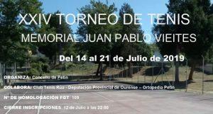"""O XXIV Torneo de Tenis """"Memorial Juan Pablo Vieites"""" celebrarase do 14 ao 21 de xullo en Petín"""
