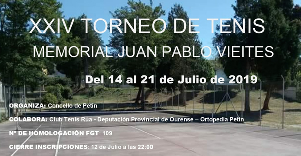 "Photo of O XXIV Torneo de Tenis ""Memorial Juan Pablo Vieites"" celebrarase do 14 ao 21 de xullo en Petín"