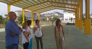 Rematan os traballos de rehabilitación da pista de recreo do CEIP Manuel Bermúdez Couso da Pobra de Trives