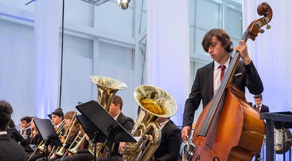 Photo of A Banda de Música de Santádega e a Banda da Escola de Música de Xinzo actuaron onte no IV Festival de Bandas Infantís e Xuvenís