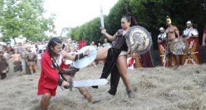 Entre romanos, castrexos e gladiadores polas rúas de Qui-Roma