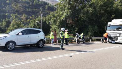 Photo of Unha persoa resulta ferida nun accidente de tráfico na N-120 en Vilamartín