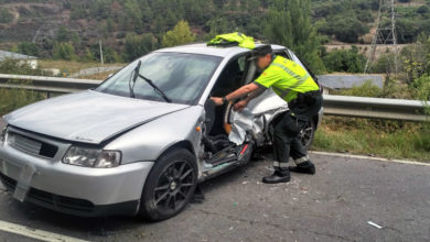 Photo of Choque entre dous vehículos na N-536 en Carballeda Valdeorras
