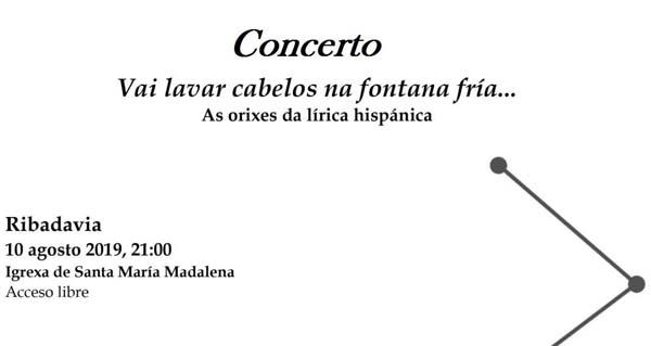"""Photo of O concerto """"Vai lavar cabelos na fontana fría"""", o 10 de agosto en Ribadavia"""