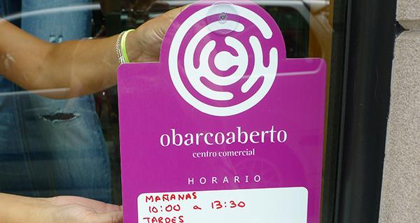 Photo of Nova sinalización para os asociados do Centro Comercial Aberto O Barco