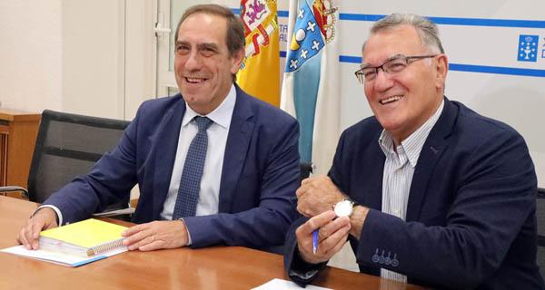Photo of O presidente da FEGAMP, Alfredo García, reúnese co conselleiro de Facenda