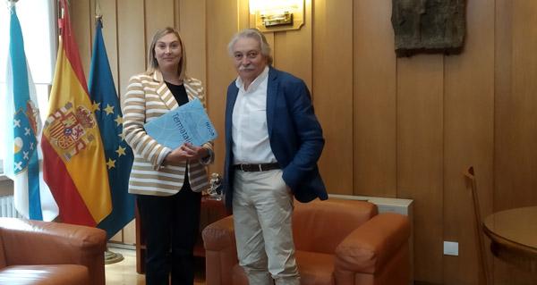 Photo of Reúnense o subdelegado do Goberno e a directora de Expourense e Termatalia
