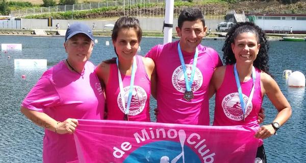 Photo of Presenza valdeorresa entre os medallistas do Campionato Galego Master de piragüismo