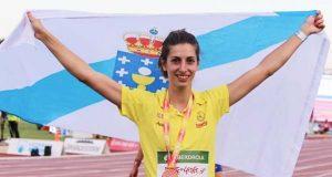A valdeorresa Leticia Gil, segunda no encontro internacional de saltos de Lisboa