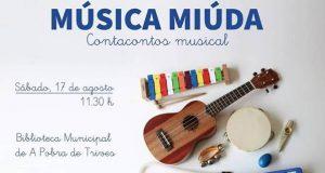 "A biblioteca de Trives acollerá o contacontos musical ""Música Miúda"""