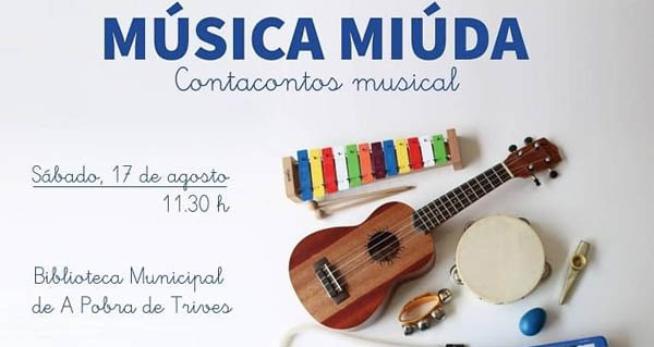 "Photo of A biblioteca de Trives acollerá o contacontos musical ""Música Miúda"""