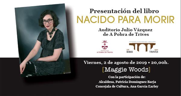 """Photo of A trivesa Mónica Álvarez presenta o seu libro """"Nacido para morir"""" no Auditorio Julio Vázquez"""