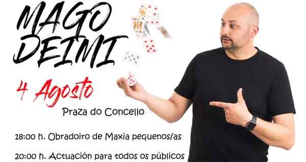 Photo of O Mago Deimi actúa en San Xoán de Río
