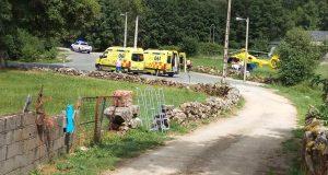 Catro persoas feridas ao ser atacadas por un can en Valdanta (O Bolo)