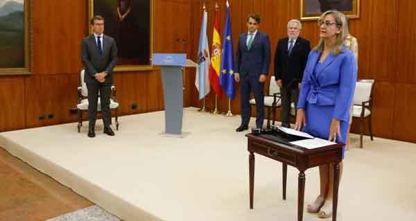 Photo of A carballinesa María Dolores Fernández Galiño, nova Valedora do Pobo
